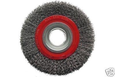 Abracs 150Mm 6' X 20Mm Bench Grinder Crimped Wire Wheel Clarik