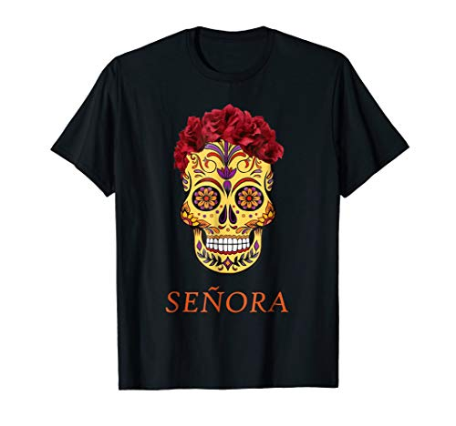 Halloween Couple Shirt Day of the Dead Sugar Skull Costume