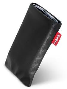 fitBAG Blues Negro - Funda a medida, Exterior de piel sintética, con forro interno de microfibra, para Samsung P300