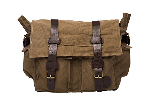 BroBag Men's Vintage Canvas Messenger Satchel Shoulder Military Field Bag