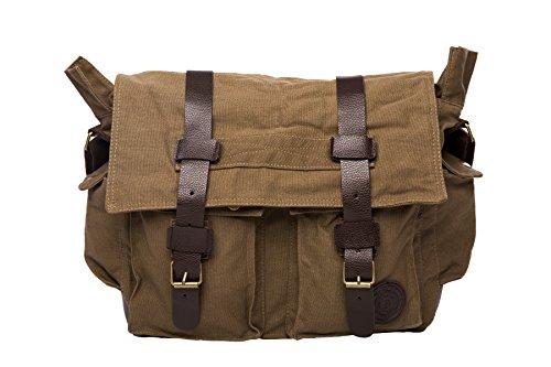 Canvas Messenger Satchel Shoulder Military Field Bag ()