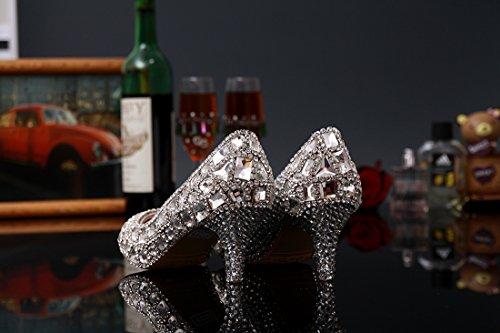Silver Sandales Compensées Heel Miyoopark Femme 6cm Htqxpdw