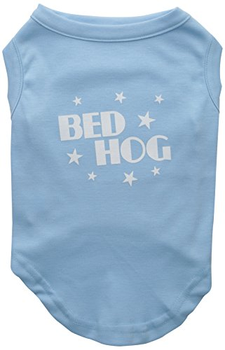 Mirage Pet Products 14-Inch Bed Hog Screen Printed Shirt, Large, Baby Blue by Mirage Pet Products