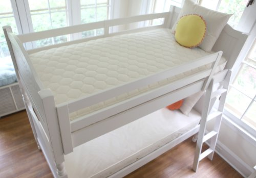 Naturepedic No Compromise Organic Cotton Twin 2 in 1 Ultra Quilted Trundle Short Kids Sleep Mattres