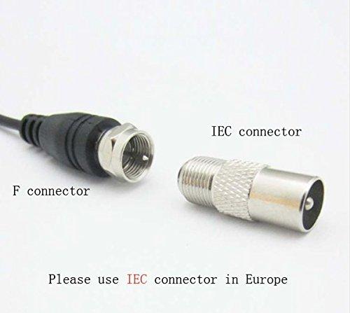 ... con amplificador desmontable amplificador de señal Booster, fuente de alimentación USB y 13 pies de alto rendimiento más grueso cable coaxial canales ...