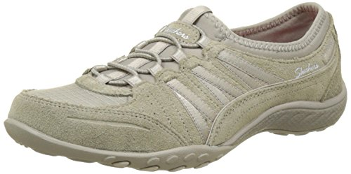 Skechers Womens Relaxed Fit: Breathe Easy - Moneybags Sneaker Taupe Size 9