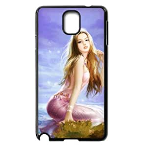 Mermaid Shell Phone for samsung galaxy note3 Black Cover Phone Case