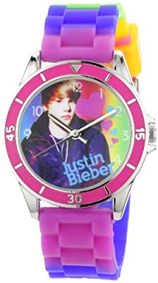 Justin Bieber Kids' JB1040 Round Multi-Colored Dial Tie Dye Silicone Strap Watch