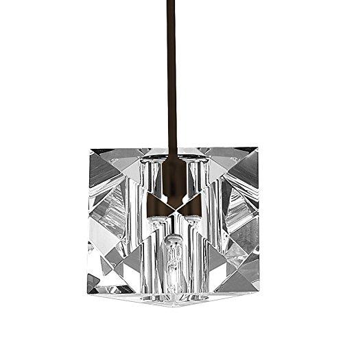 WAC Lighting MP-940-CL/DB Prisma 1 Light Canopy Pendant, One Size, Clear/Dark Bronze ()