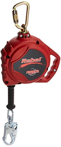 Protecta 3590510 Rebel 33-Feet Self Retracting Lifeline with Carabiner And Self Locking Swivel Snap Hook, Red by ProTecta (Image #2)