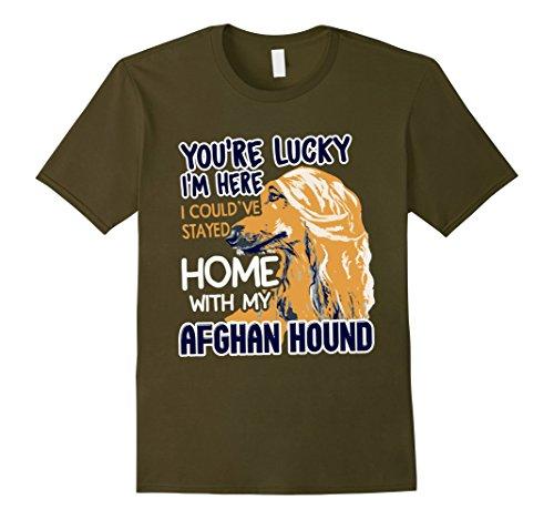 Afghan Hound Mens T-shirt (Mens Afghan Hound Shirt - Cute Afghan Hound Tee Shirt 3XL Olive)