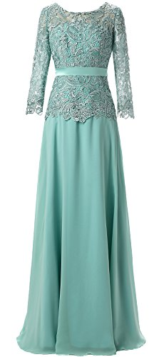 Butmoon Women's Chiffon and Lace Long Mother of the Bride Dresses