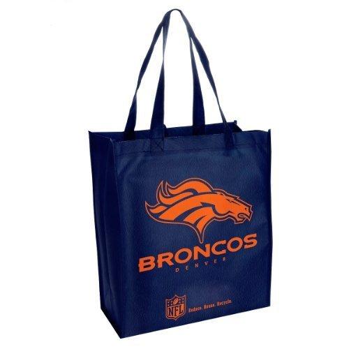 Denver Broncos Printed Non-Woven Polypropylene Reusable Grocery Tote Bag
