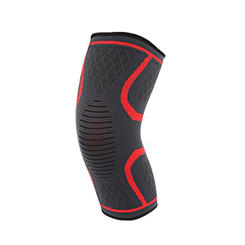 Knee Compression Sleeve Support, Flex Plus Compression Knee Brace for Joint Pain, Meniscus Tear, ACL, MCL and Arthritis Relief, Improve Circulation Support for Running, Gym Workout, Recovery Best Slee