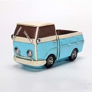 Nueva planta suculenta de micro retro camión potted hecha a mano de la vendimia Oficina Florero / Home Mini Bonsai creativo decoración del hogar