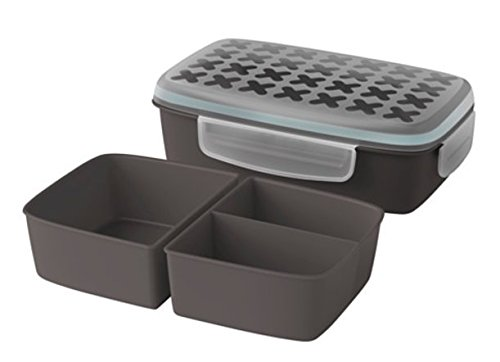 Ikea Lunch Box Grey with inserts Live well