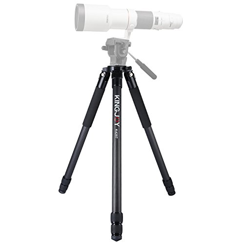 59.5-inch Carbon Fiber Heavy Duty Tripod Stand,KINGJOY K4207 professional camera tripod with 3-Section Adjustable Camera Tripod Legs Stand for Canon Nikon DSLR Camcorders(Black) by KingJoy
