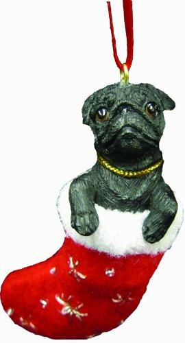 Pug Christmas Stocking Ornament with