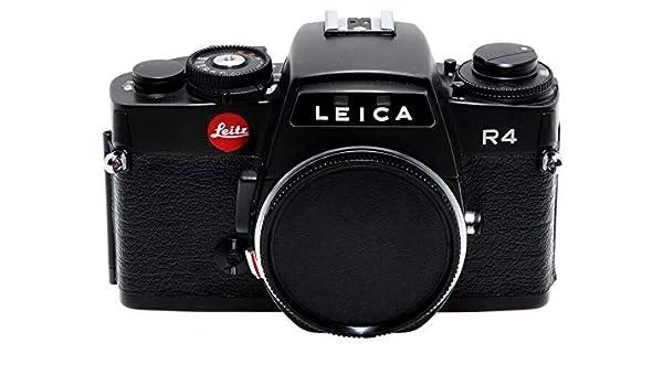 Cámara réflex Leica Leitz R4 de Color Negro. Cámara usada.: Amazon ...