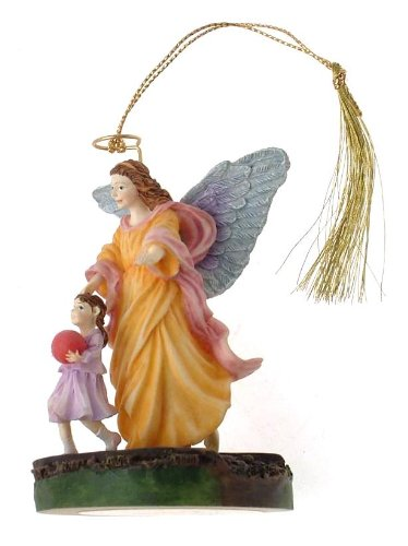 c1998 Bradford Editions By My Side Someone to Watch Over Me guardian angel ornament - F443