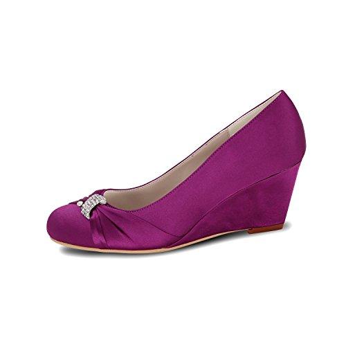 L@YC Zapatos De La Boda De La Cuña De Las Mujeres 9140-22 Zapatos Multicolores Del Ballet Del Dedo Del Pie De TacóN alto Red