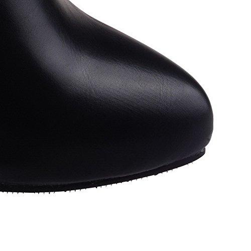 Stivali Da Donna Con Il Tacco Basso A Tacco Alto In Velluto Nero