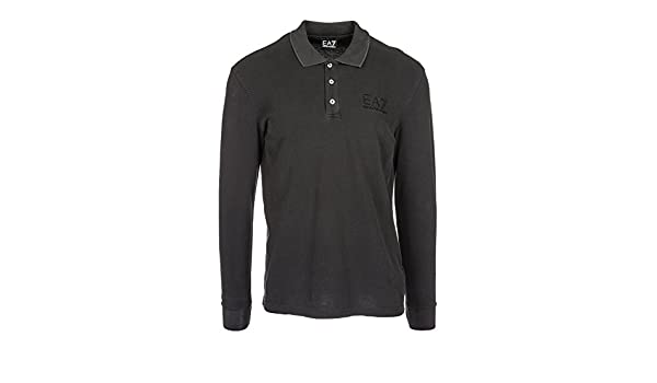 Emporio Armani EA7 t-Shirt Hombre Manga Larga Cuello de Polo Nuevo ...