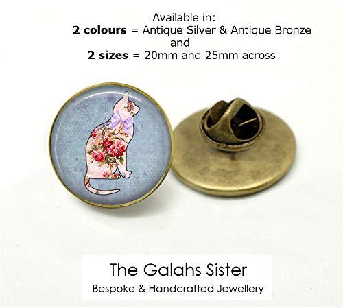 Cat Brooch Pin Badge Gift Cat Lover Jewellery Kitten Present Bronze Handmade New