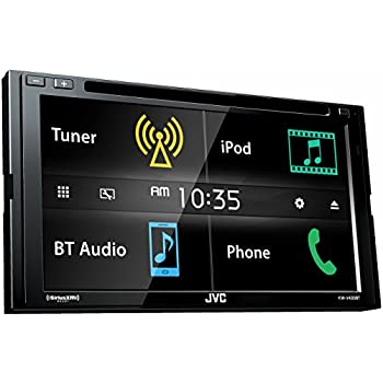 jvc kw v430bt 6 8 in dash 2 din car dvd receiver w bluetooth iphone android usb. Black Bedroom Furniture Sets. Home Design Ideas