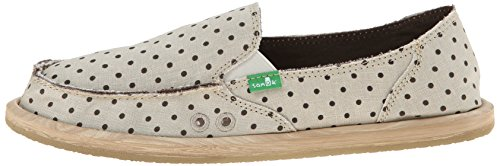 Women's Hot Sanuk brown Natural Flat Dots Dotty 0BR1wxqd