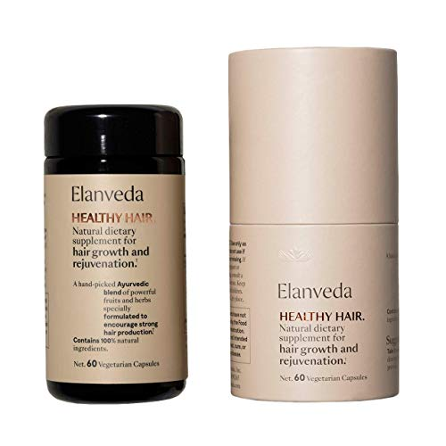 Healthy Hair Growth Supplement by Elanveda | Vitamins for Hair Growth, 1 Month Supply - 60 Capsules