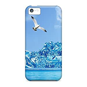 For Iphone 5c Tpu Phone Case Cover(icy Cool Summer)