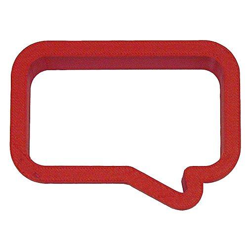 Conversation Bubble Rectangle Cookie Cutter PC0271 (Conversation Cookie Cutters)