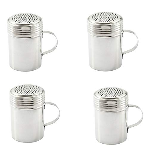 Stainless Steel Dredge Shaker with Handle, Set of 4 – 10 oz. by Culinary Depot (Image #2)