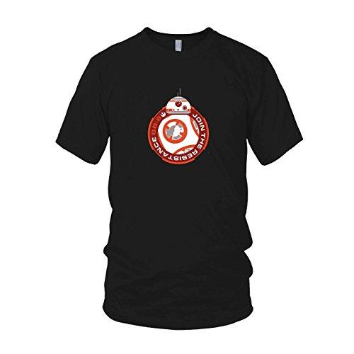 Join BB8 - Herren T-Shirt, Größe: L, Farbe: schwarz