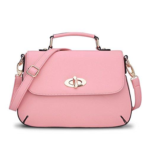 Olici Bolso De Señora Dama Satchel Verano Solo Hombro Bolso Bolso Pequeño Azul Pink