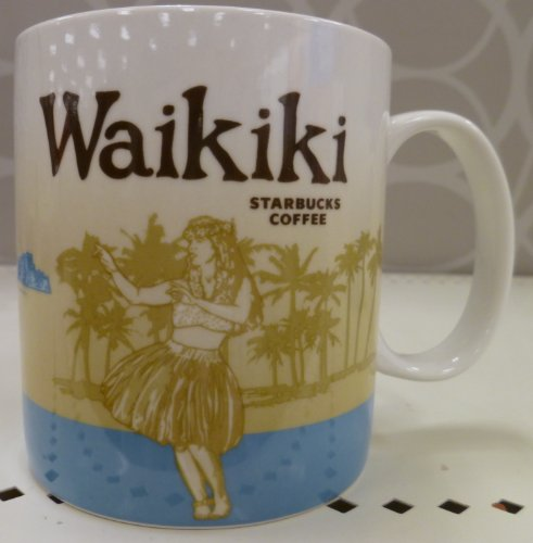 Starbucks Hawaii - Waikiki Collector Coffee Mug by Starbucks
