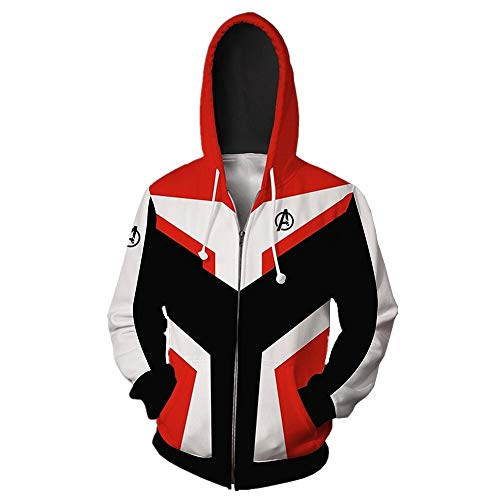 PONGONE Superhero Hoodie Advanced Tech Sweatshirt Halloween Cosplay Hooded Jacket L