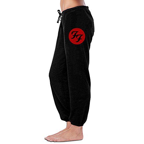 Women's Girls' Sweatpants-Foo Fighters City Circle Black Sweatpants XL Circles Capri Pants