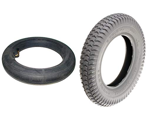 AlveyTech 14''x3'' (3.00-8) Mobility Tire and Tube Set with Powertrax Knobby Tread by AlveyTech