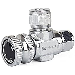 Rhinox Stainless Steel Needle Valve - Necessary for Accurate CO2 Regulation in Solenoid Fish Tanks - Easy to Install - C02 Adjustment Valve - Used with Rhinox CO2 Diffuser Set