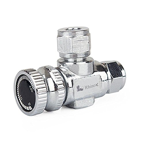 Rhinox Stainless Steel Needle Valve - Necessary for Accurate CO2 Regulation in Solenoid Fish Tanks - Easy to Install - C02 Adjustment Valve - Used with Rhinox CO2 Diffuser - Local Nearest Shop