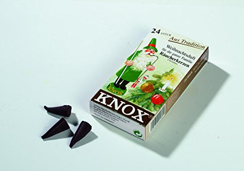 KNOX Christmas Scented Incense Cones, 24 Pack, Made in Germany (Christmas Incense Cones)