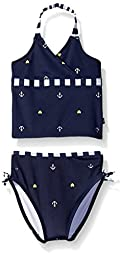 Nautica Sportswear Kids Baby Anchor Foil Print Tankini, Navy, 12 Months