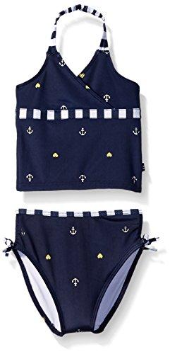 Nautica Sportswear Kids Baby Anchor Foil Print Tankini, Navy, 12 Months