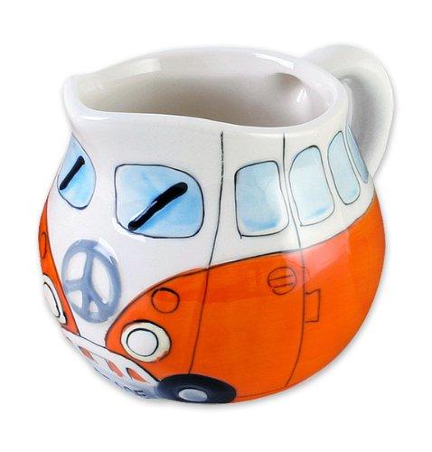Bus Cookie Jar (Volkswagen Merchandise - VW Camper Van / Bus - Ceramic Milk / Cream Jug / Dispenser)