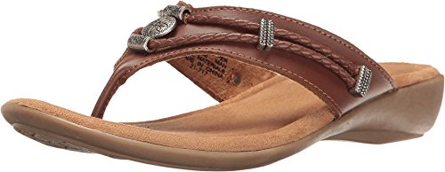 Minnetonka Women's Silverthorne Thong Whiskey Leather 7 M ()