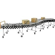 "24""W Portable Flexible & Expandable Conveyor, Steel Skate Wheels, 6'2"" to 24'8"""
