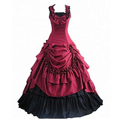 Victorian Red Dress - 8