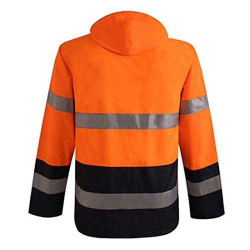 Simcat Men Safety Depot Safety Jacket Class 3 ANSI Approved Construction Work Wear 360° Hi VIS Reflective For Men 2